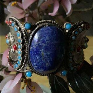Vintage lapis lazuli cuff